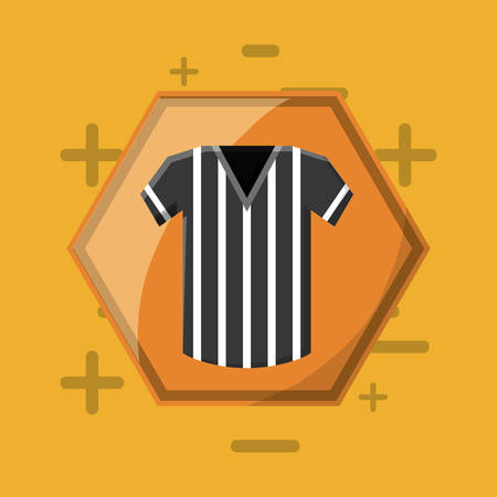 Referee jersey icon over a yellow background