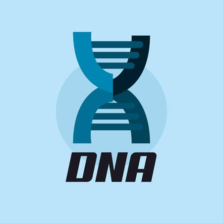 DNA molecule structure icon over blue background, colorful design. vector illustration Illustration