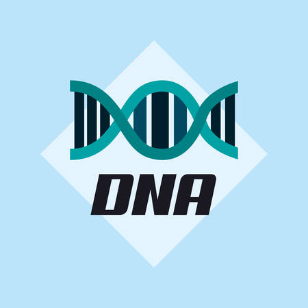 DNA structure icon over blue background, colorful design. vector illustration