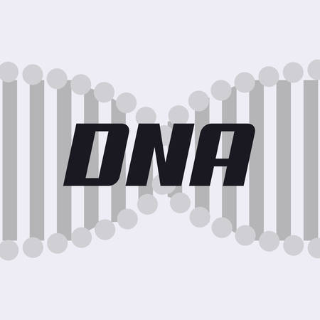 DNA molecule structure over gray background, vector illustration.