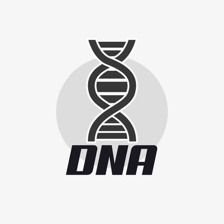 DNA molecule structure icon over gray background, vector illustration.