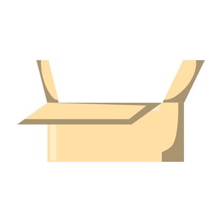 carton box icon over white background
