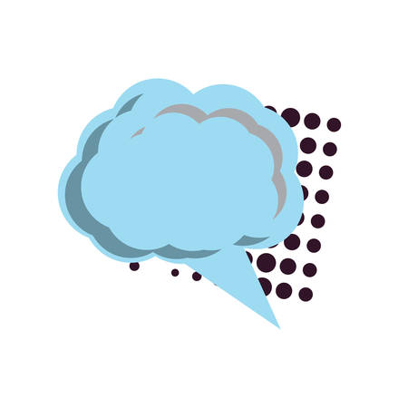 Speech cloud icon over white background, colorful design vector illustration.