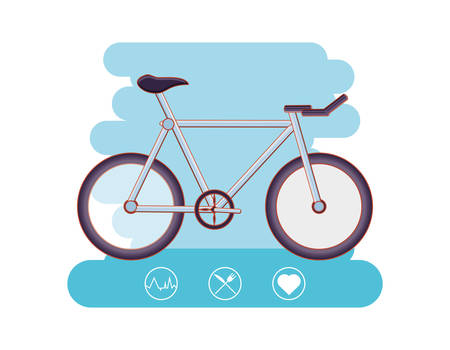 bicycle healthy lifestyle set icons vector illustration design Illustration