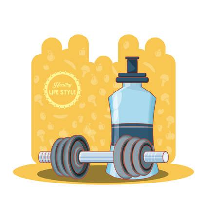Healthy lifestyle set icons