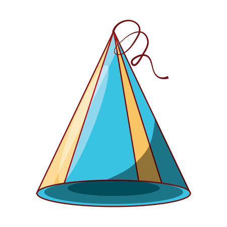 party hat icon over white background, colorful design.  vector illustration Illustration