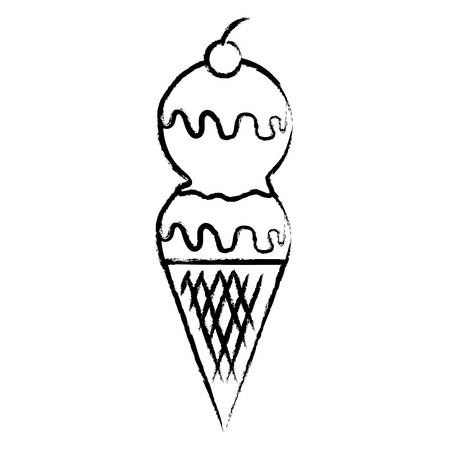 ice cream icon over white background, vector illustration