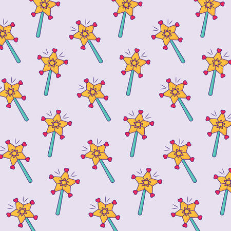 background with magic wand pattern, colorful design. vector illustration