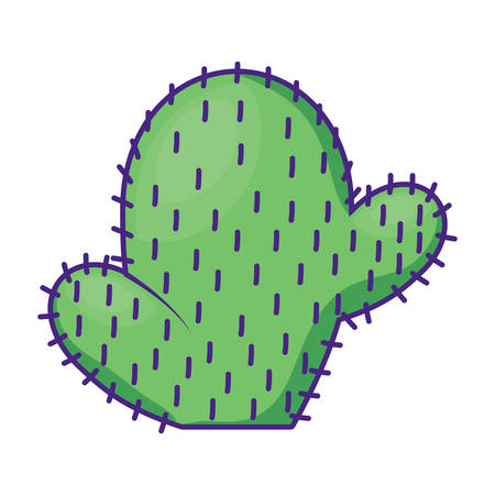 cactus icon over white background, vector illustration