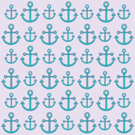 Background of anchors pattern, colorful design. vector illustration