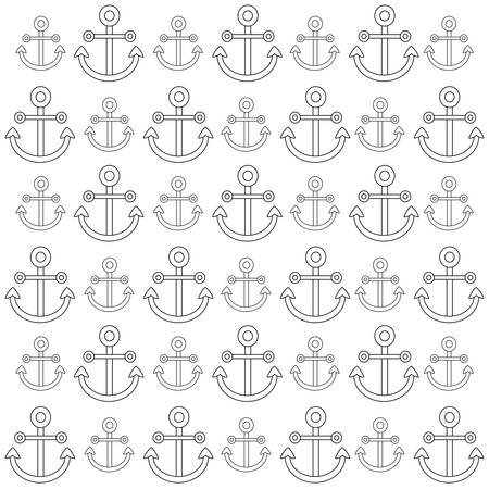 background of anchors pattern, vector illustration Ilustrace