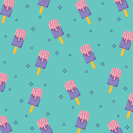 background of ice cream bars pattern, colorful design. vector illustration