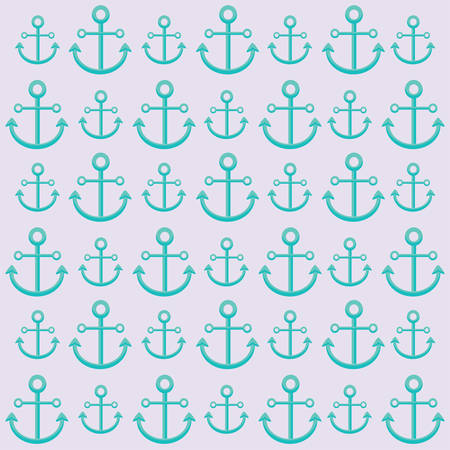 background of anchors pattern, colorful design. vector illustration Ilustrace