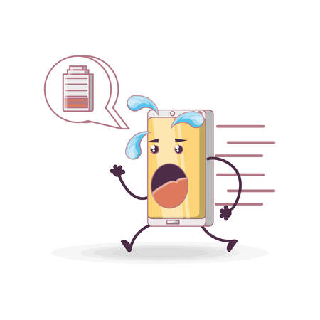 Funny smartphone comic character vector illustration design