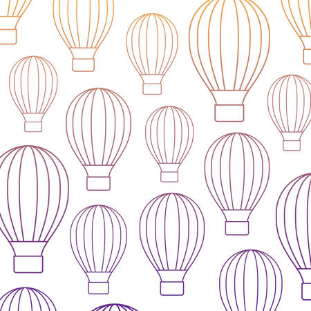 background of hot air balloons pattern, vector illustration