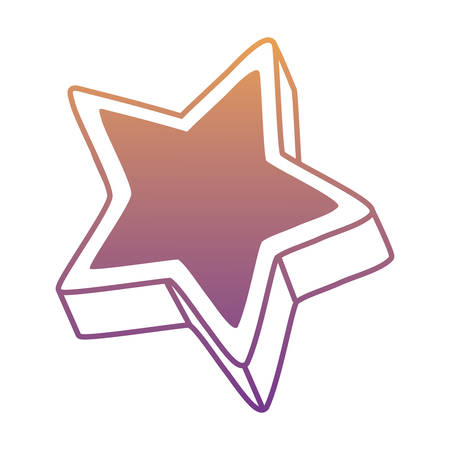 star icon over white background, vector illustration