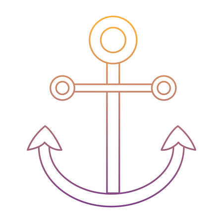 anchor icon over white background, vector illustration