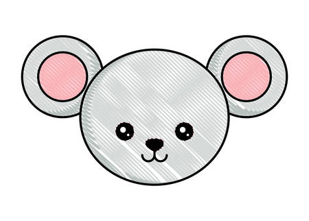 cute mouse icon over white background, colorful design. vector illustration Illustration