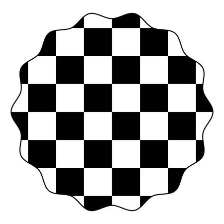 with chessboard pattern over white background, vector illustration Stockfoto - 101410718