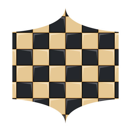 with chessboard pattern over white background, vector illustration