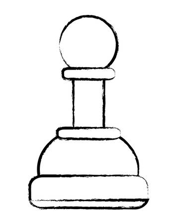 pawn chess piece over white background. vector illustration