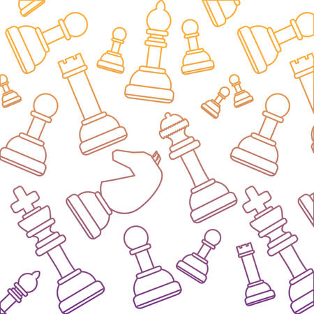 background of chess pieces pattern, colorful design. vector illustration