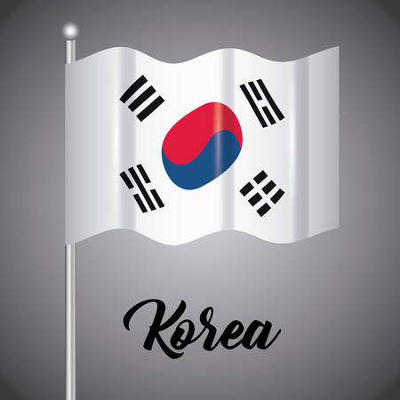 south korea flag design, vector illustration icon