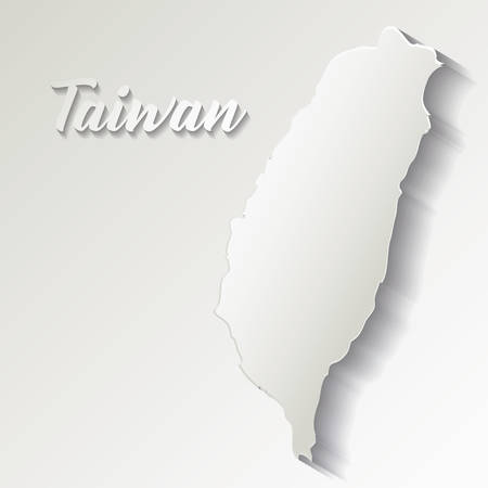Taiwan map icon over white background, vector illustration