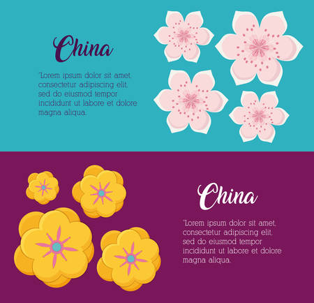 infographic design with china culture over colorful background, vector illustration