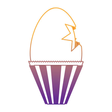 chocolate egg icon over white background, colorful design. vector illustration