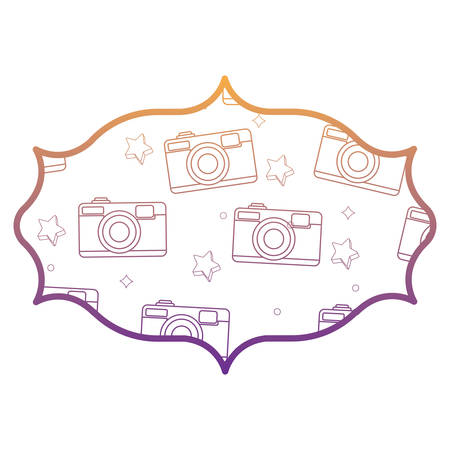 with photographic camera pattern over white background, vector illustration Illustration