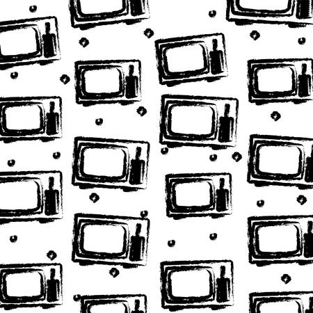 background of retro television pattern, vector illustration