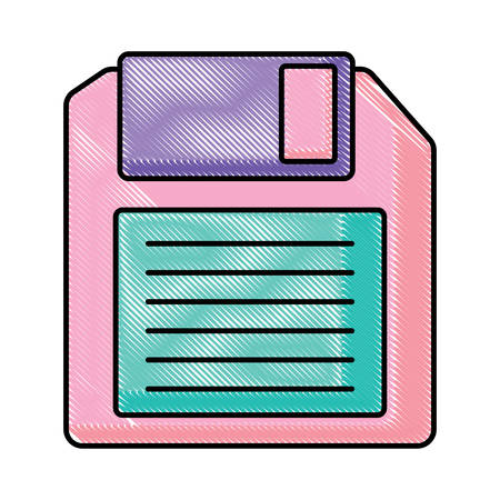diskette icon over white background, vector illustration