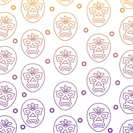 background of wrestler mask pattern, vector illustration