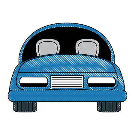 car icon over white background, colorful design. vector illustration