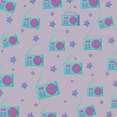 backgrorund of retro radio pattern, vector illustration