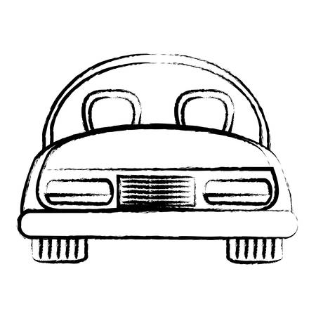 sport car icon over white background, vector illustration