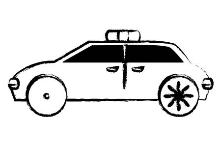 police car icon over white background, vector illustration
