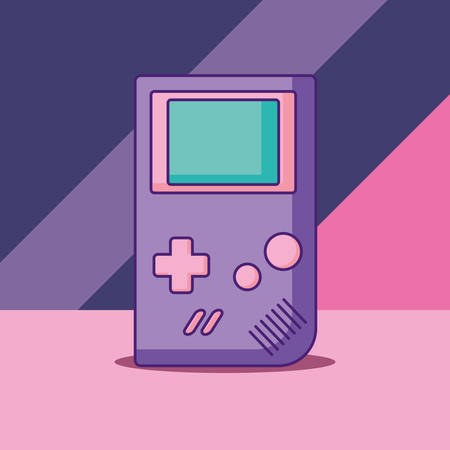 portable videogame icon over colorful background, vector illustration 일러스트