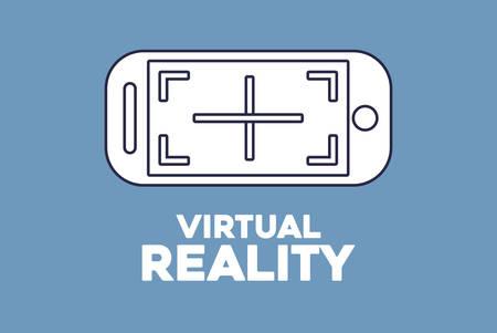 conception de réalité virtuelle avec l'icône de smartphone sur fond bleu, design coloré. illustration vectorielle