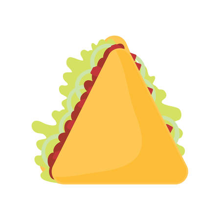Mexican food design with quesadillas icon over white background, vector illustration Illustration