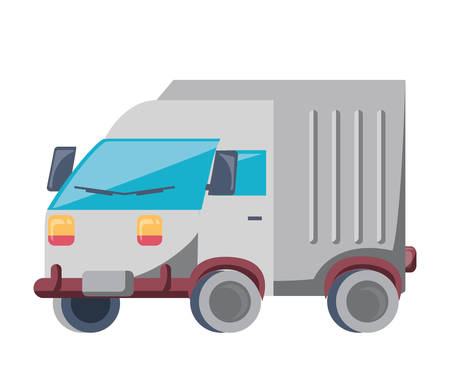 cargo truck icon over white background, colorful design. vector illustration