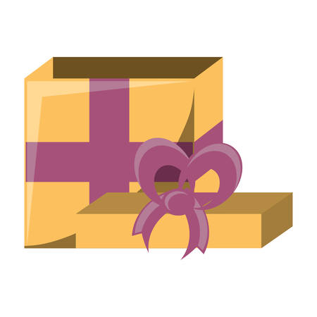 opened gift box icon over white background, colorful design. vector illustration