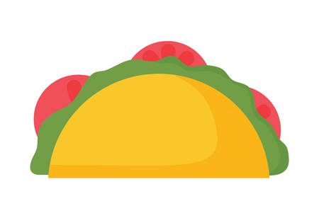 Mexican tacos over white background, vector illustration