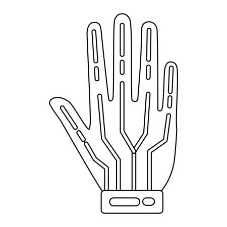 wired gloves icon over white background, vector illustration