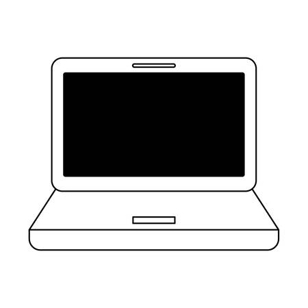 laptop computer icon over white background, vector illustration Ilustração