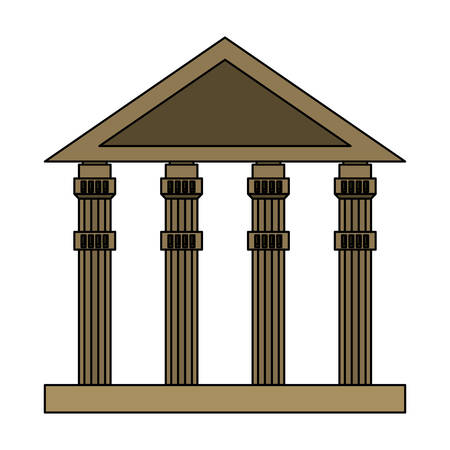 ancient greek building over white background, vector illustration Stock fotó - 102068149
