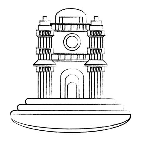 Berlin Cathedral icon over white background, vector illustration