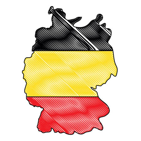 germany  map icon over white background, vector illustration