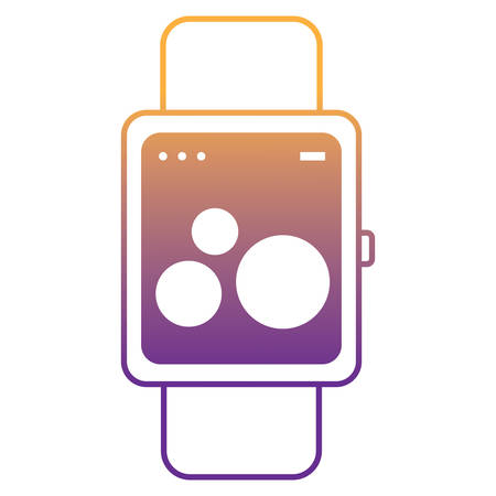 smartwatch icon over white background, vector illustration Vectores